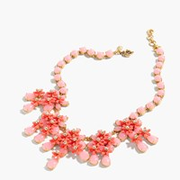 J.Crew Floral Cascade Necklace Coral Shell