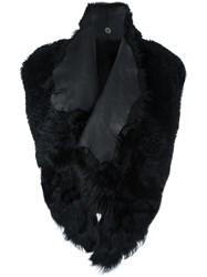 Lost And Found Ria Dunn Shearling Gilet Black