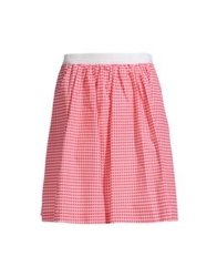 George J. Love Knee Length Skirts Red