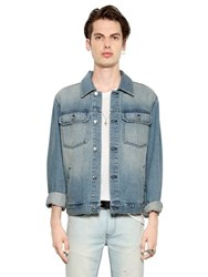 Blk Dnm Clean Cut Stretch Cotton Denim Jacket