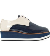 Dune Factor Patent Leather Flatform Oxford Shoes Multi Leather