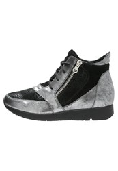 Anna Field Hightop Trainers Silver Black