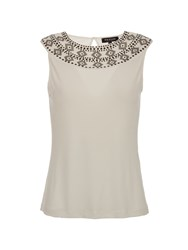 Morgan Patterned 100 Cotton Top Winter White