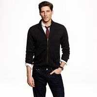 J.Crew Merino Wool Zip Sweater Jacket