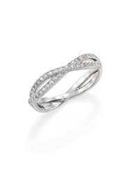 De Beers Infinity Diamond And 18K White Gold Full Band Ring
