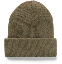 Acne Studios Kosta Ribbed Wool Blend Beanie Light Brown