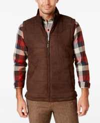 Tasso Elba Men's Quilted Faux Suede Vest Only At Macy's Sable Brown