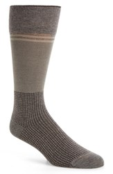 Calibrate Men's Mercerized Houndstooth Socks