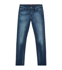 7 For All Mankind Ronnie Skinny Jeans Male Blue