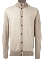 Hackett Two Tone Cardigan Nude And Neutrals