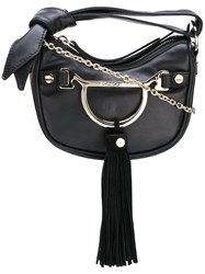 Borbonese Tassel Crossbody Bag Black