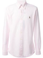 Polo Ralph Lauren Striped Shirt Pink And Purple
