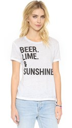 Chaser Beer Lime And Sunshine Tee White