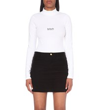 Hood By Air Bitch Cotton Jersey Bodysuit White