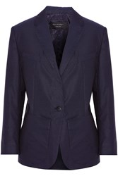 Equipment Jay Polka Dot Cotton Blazer Blue
