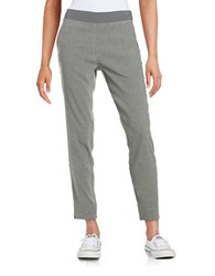 Dkny Linen Blend Ankle Pants Grey