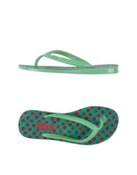 Diesel Thong Sandals Light Green