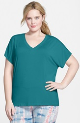 Hard Tail Slouchy V Neck Tee Plus Size Tide