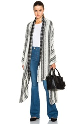 Prabal Gurung Nepalese Cashmere Cardigan In Checkered And Plaid Black White