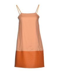 Mauro Gasperi Short Dresses Orange