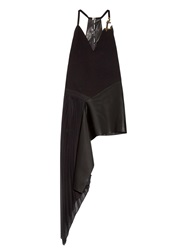 Anthony Vaccarello Metal Anchor Crepe Dress