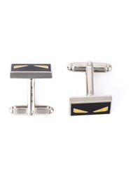 Fendi Bag Bugs Cufflinks Black