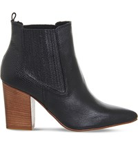 Office Loretta Leather Pointed Chelsea Boots Black Leather