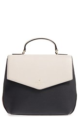 Kate Spade New York Spencer Court Adaire Convertible Leather Backpack Ivory Crisp Linen Black Merlot