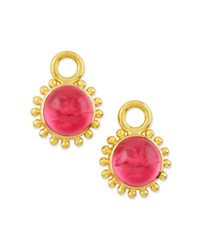 Elizabeth Locke Pink Venetian Glass Earring Pendants