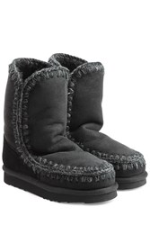 Mou Eskimo Short Sheepskin Boots Black