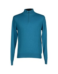 Block23 Knitwear Turtlenecks Men Turquoise