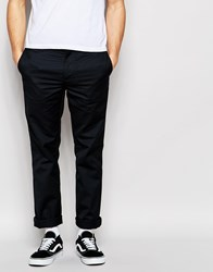 Edwin Union Chinos Straight Fit Twill In Black Unwashed Black