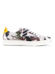 Off White Camouflage Leather Sneakers Black