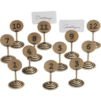 Set Of 12 Table By Numbers Placecard Holders Cb2