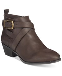Styleandco. Style Co. Harperr Strappy Booties Only At Macy's Women's Shoes Chocolate