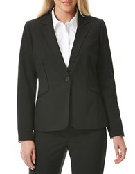 Laundry By Shelli Segal One Button Curved Back Jacket Black