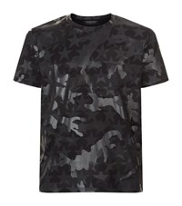 Valentino Camo Star T Shirt Male Black