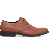 Camper Bowie Leather Derby Shoes Mid Brown