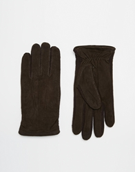 Totes Knitted Gloves With Touch Smart Technology Brown
