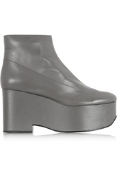 Jil Sander Leather Wedge Boots