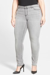 Halogen Stretch Skinny Jeans Grey Fog Plus Size Gray