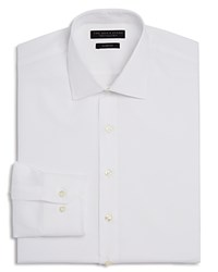 Bloomingdale's The Men's Store At Textured Solid Slim Fit Basic Dress Shirt White
