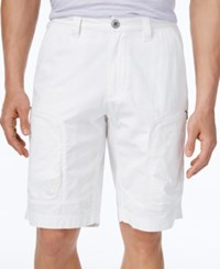 Inc International Concepts Men's Efron Cargo Shorts Only At Macy's White