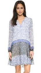 Shoshanna Estee Dress Blue Multi