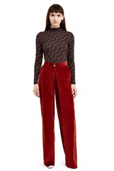Aalto Pleated Front Pants Burgundy