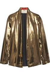 Ronald Van Der Kemp Lame Blouse Gold