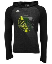 Adidas Men's Long Sleeve Portland Timbers Aerofade Hooded T Shirt Black