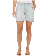 Jag Jeans Albany Shorts In Lightweight Striped Denim In Bleach Bleach Women's Shorts Blue