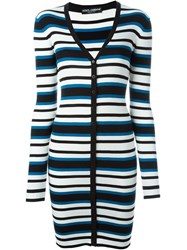 Dolce And Gabbana Long Striped Cardigan Multicolour