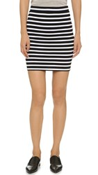 Alexander Wang Engineer Stripe Miniskirt Black And White